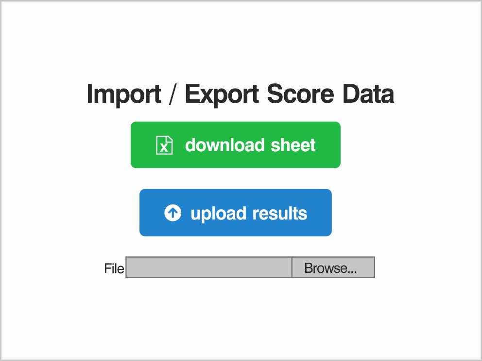 Import / Export Score Data